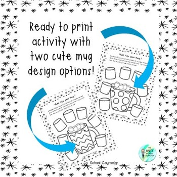 Mug Filler Self-Esteem Winter Activity Worksheet