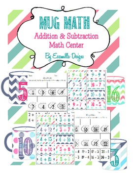 Winter Addition & Subtraction Center - Two Centers in One!