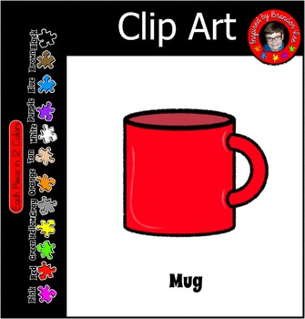 Mug Version 1 ~ Commercial use clipart in 12 colors for yo