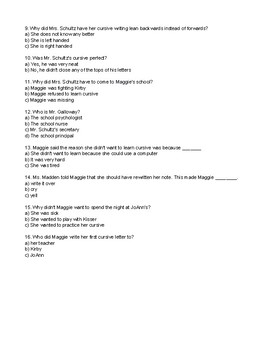 Muggie Maggie Comprehension Quiz