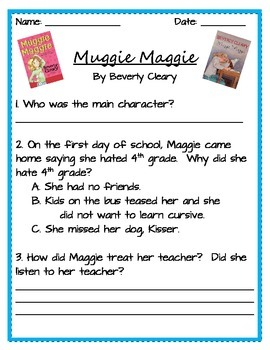 Muggie Maggie: End of Book Comprehension Questions