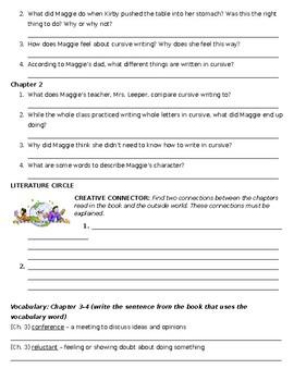 Muggie Maggie Novel Study