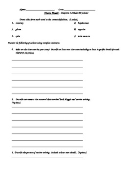 Muggie Maggie Quiz Chapters 1-2