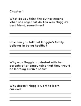 Muggie Maggie Reading Comprehension Questions