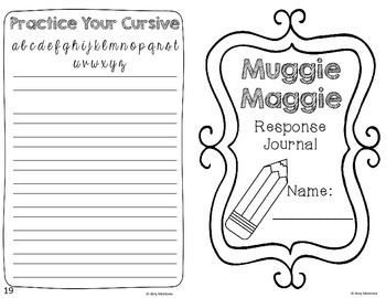 Muggie Maggie Response Journal