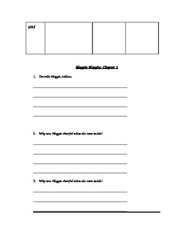 Muggie Maggie - Vocabulary and Comprehension Guide for Entire Novel