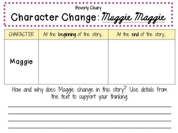 Muggie Maggie by Beverly Cleary: A Complete Novel Study!