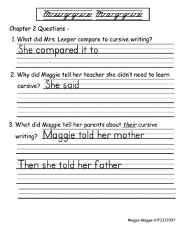 Muggie Maggie by Beverly Cleary Literature Unit