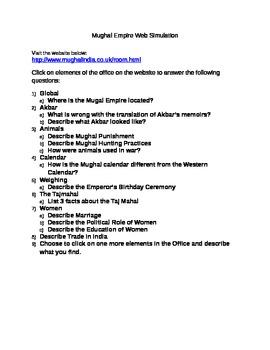 Mughul Empire Webquest