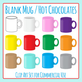 Mugs / Hot Chocolate Cups Clip Art Set for Commercial Use