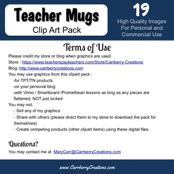 Mugs Clipart for Commercial Use