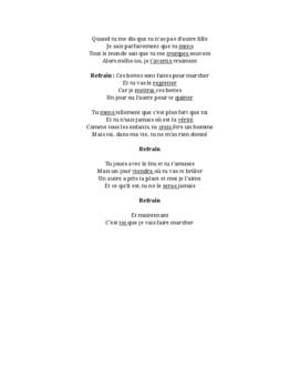 French Music - Muguette - Ces bottes - futur simple, direct object pronouns