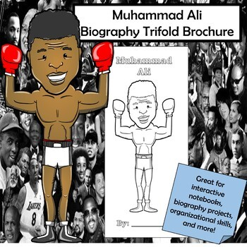 Muhammad Ali Biography Trifold Brochure
