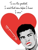 Muhammad Ali Boxer Black History Growth Mindset Poster Cri