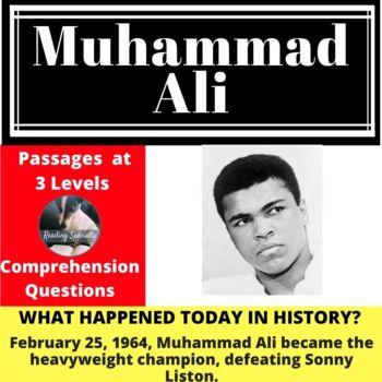 Muhammad Ali Differentiated Reading Comprehension Passage Feb 25