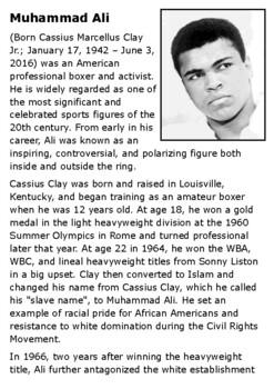 Muhammad Ali Handout