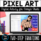 Muhammad Ali Pixel Art: Two-Step Equations (Distance Learning)