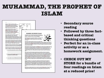 """Muhammad, The Prophet of Islam"" reading/questions - Global/World History"