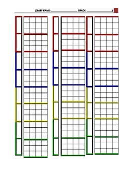 Muisc Classroom Seating Charts