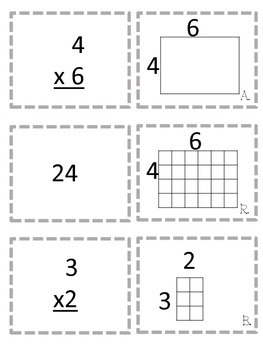 Multiplication Game Area Models and Arrays (Two Ways to Play)