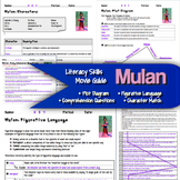 Mulan Movie Guide: Literacy Skills (plot, character, figurative language)