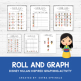 Disney Inspired Mulan Roll and Graph Activity and Data Sheets