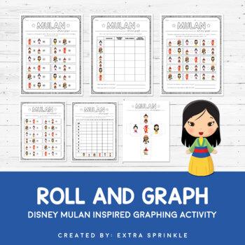 Disney Inspired Mulan Roll and Graph Activity and Data Sheets