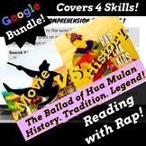 Google Classroom Reading Comprehension Activities Using Mulan Themed Rap Song