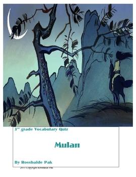 Mulan Vocabulary Quiz