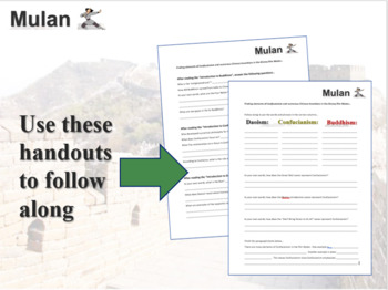 Mulan! (teach about China, Confucianism and Chinese Inventions) 15-slide PPT