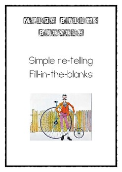 Mulga Bill's Bicycle Simple Re-telling Fill-In-The-Blanks