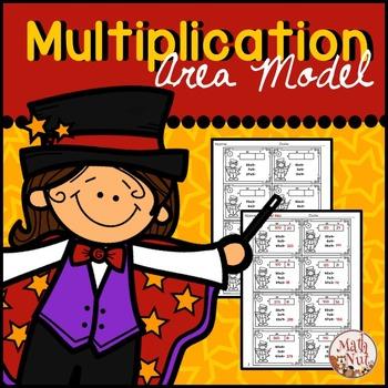 "Multiplication Area Model ""2 digit by 1 digit"" (Magic Theme)"