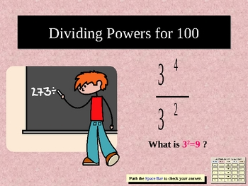 Muliplying Powers, Dividing Powers, Zero Exponents and more