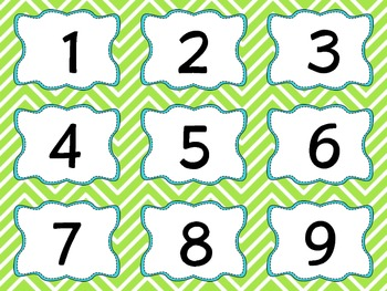 Mulit-Set Chevron Calendar and Cubby Numbers