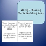 Mulitiple Meaning Match Game