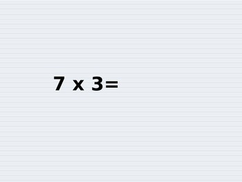 Mulitiplication Facts for Speed 6s and 7s