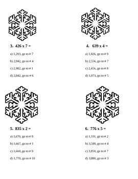 Mulitiplication Holiday Trails Game