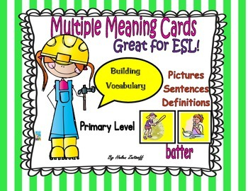 Multiple Meaning Word Cards