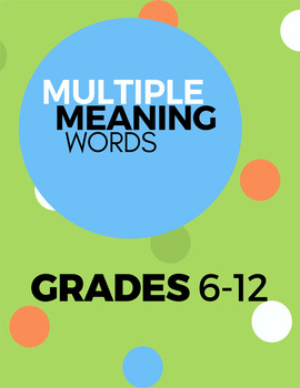 Mulitple Meaning Words 6-12 Pack