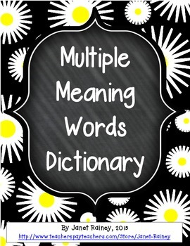 Free Multiple Meanings Personal Dictionary