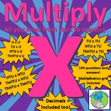 Multiplication - a layered approach including long multiplication skills