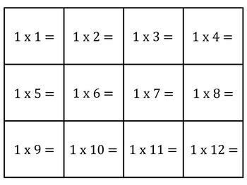 Genius image for multiplication flash cards printable 0-12