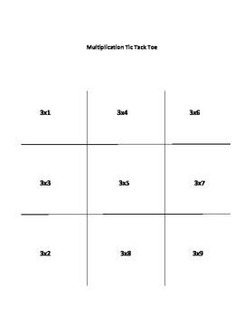 Mulitplication Tic Tack Toe