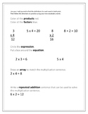 Mulitplication Vocabulary Practice