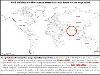 Mulitplying and Dividing Integers: Where in the World is Luna Lamble?