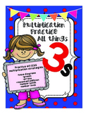 Mulitply by 3s Practice CCSS Multiplication Strategies!