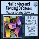 Mulitplying and Dividing Decimals Paper Chain Activity