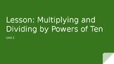 Mulitplying by powers of 10
