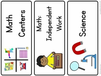 Multi-Age Classroom Schedule Cards & Center Signs (Non-Editable Version)