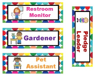 Multi Bright Polka Dots Classroom Management Set
